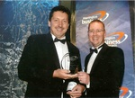 Michael Mahoney winning Innovation & Research Award